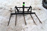 """75"""" Square Bale Forks, Case IH Quick Attach Loader Brackets"""