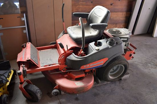 "Simplicity Champion Zero Turn Mower With Bagger, 50"" Deck, 26hp, Bad Engine"