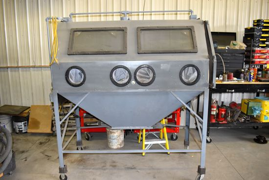 "Shop Built, Dual Compartment, Sand Blasting Cabinet, 68"" Wide"