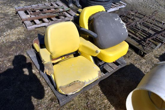 Assortment Of 5 John Deere Seats