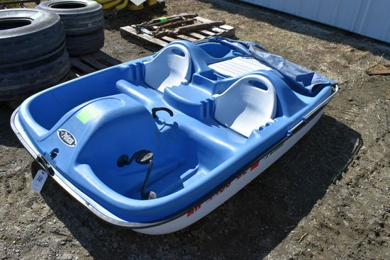 Pelican Ram-X Monaco 4 Seater Paddle Boat, Canopy