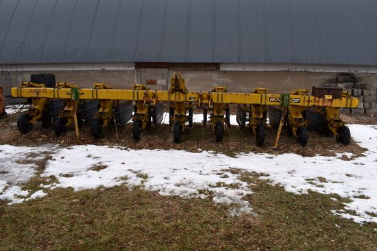 """Alloway Min-Till 3pt Row Crop Cultivator, 8Row 30"""", Shields, Big C-Shanks, Coulters, Currently Froze"""