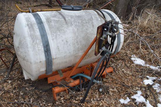 300 Gallon Sprayer, 3pt, Currently Frozen Down