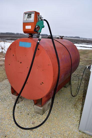 500 Gallon Fuel Tank With Gasboy Electric Pump