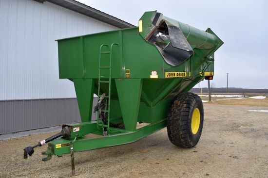 John Deere 500 Grain Cart, 23.1x26 Tires 85%, 1000PTO, Ladder Kit, Lights, Auger Light, Very Clean,