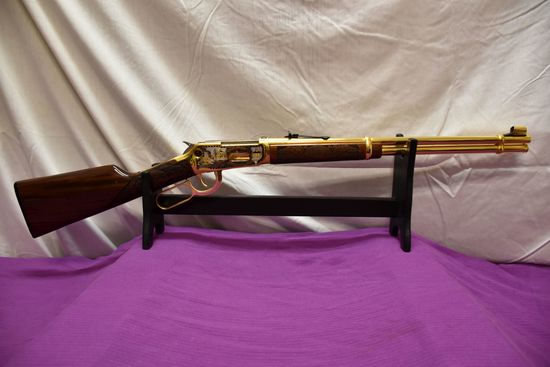 2003 Winchester Model 94AE 30-30 Cal., Lever Action, Dodge County Commemorative, Micro Engraved Stoc