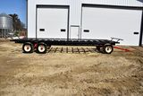 Agri-Master 8'x24' Round Bale Mover, Metal Bed, 12 Ton Tandem Running Gear, 16