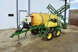 Top-Air 500 Gallon Poly Tank Crop Sprayer 42' X-Fold Booms, Foamer, Rinse Tank, Hyd Pump, Quick Fill