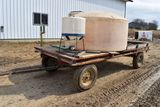 800 Gallon Poly Nurse Tank And 30 Gallon Chemical Inductor, On 7'x14' Flat Bed With JD 1064 Running