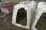 Calf-Tel Calf Hutch With Back Bedding Door, With Wire