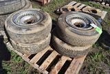 (4) GR 70-15 Used Tires With Rims, Selling As One Money
