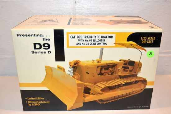 First Gear CAT D9D Track Type Tractor, Offered Exclusively ACMOC, 1/25th Scale With Box