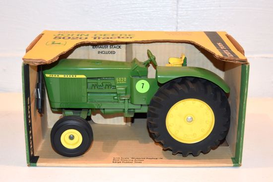 Ertl John Deere 5020 Tractor, 1/16th Scale With Blueprint Replica Box