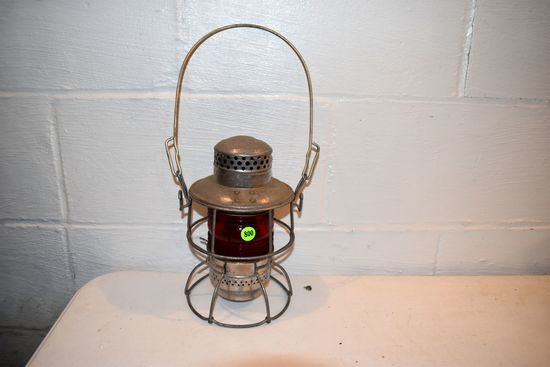 Adlake Red Globed Kerosene Lantern