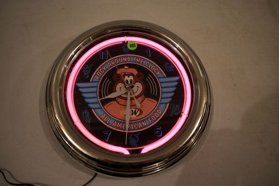 A&W Battery Operated Neon Clock