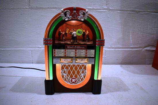 Rock O Rama Electric Tabletop Jukebox Radio, 10'' Tall