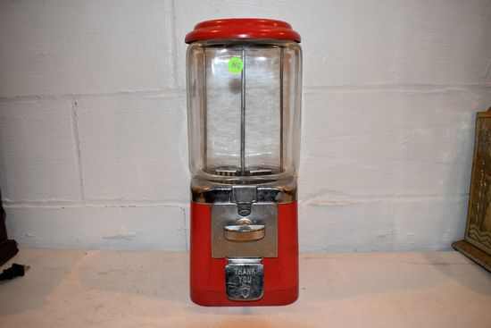 Tabletop Candy Dispenser, With Key, 16'' Tall