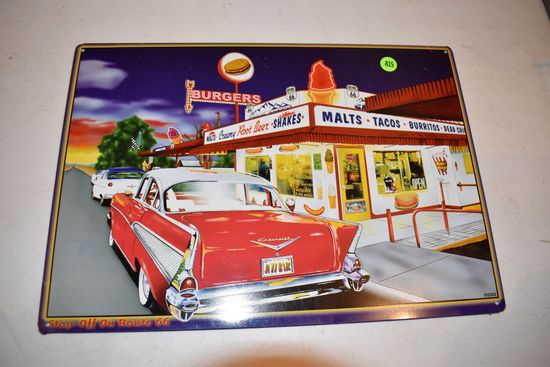 Route 66 Diner Sign, 17''x12''
