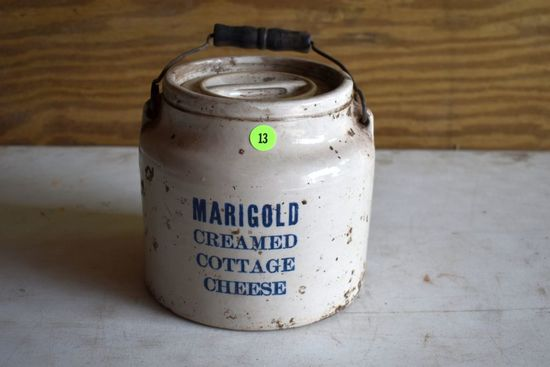 Marigold Creamed Cottage Cheese Wire Bail Crock