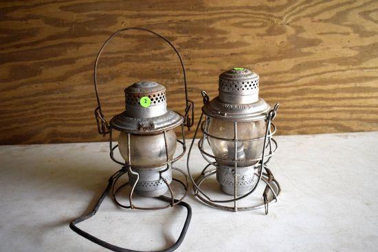 Adlake Railroad Lantern, And Other Railroad Lantern, Clear Lenses