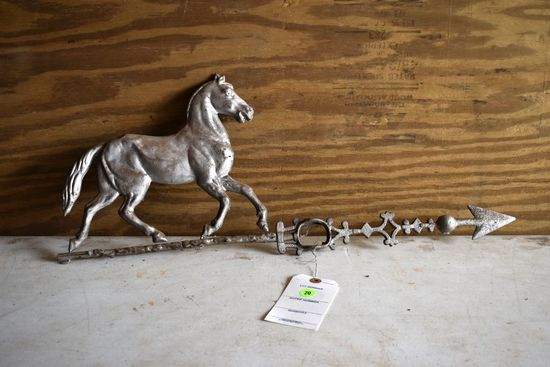 Horse Weathervane, Pot Metal, 25'' Long By 11'' Tall