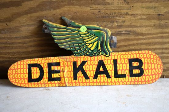 De Kalb Tin Double Sided Sign, 18'' Wide By 9'' Tall