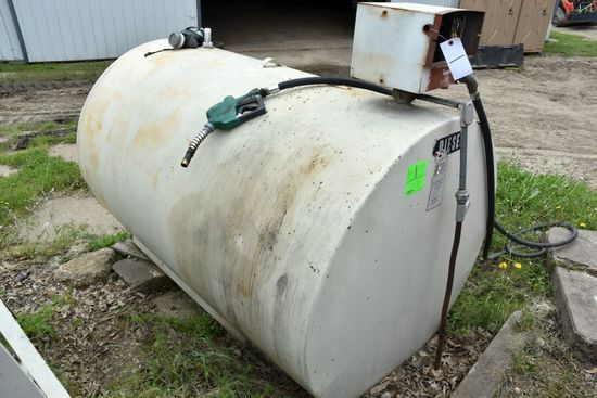 550 Gallon Diesel Tank With Electric Pump