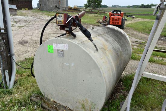 550 Gallon Gas Tank With Fill Rite Model 700 Pump