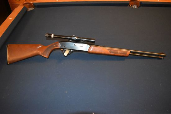Winchester Model 270 Pump, 22 SL or LR, Checkered Stock and Forearm, With Scope, SN:B909245