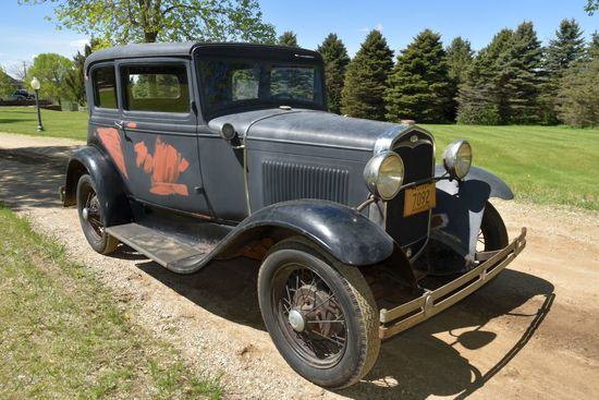 """1931 Ford Model A """"Victoria"""" 2 Door, Good Body, Very Complete, Motor Stuck, Has Title"""