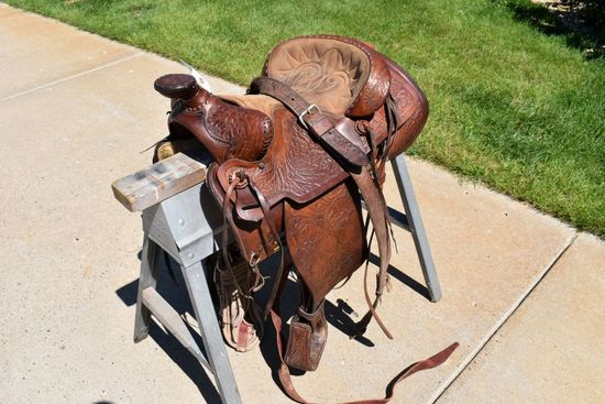 """16"""" Western Saddle, With Suede Padded Seat"""