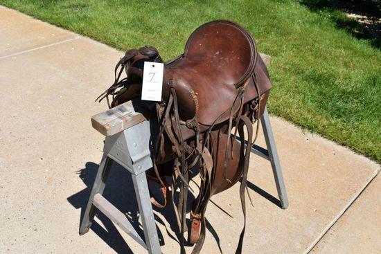 "15"" Highback Western Saddle, 100+ Years Old"