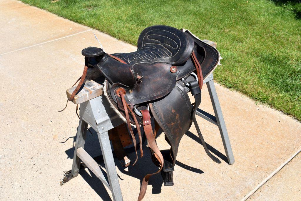 """14.5"""" Black Western Saddle"""