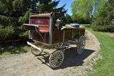 Custom Built Horse Parade Wagon, High Seat, Wooden Wheels, Up To A 6 Horse Pole