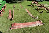 4 Wooden Sleigh Runners With Bolsters