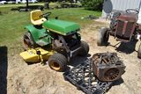 John Deere 400 Garden Tractor With Deck, Hi-Lo Hydro, With Engine, Missing Parts