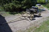 Single Seat Small Horse Buggy Rubber Insert On Wooden Wheels