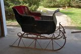 Nice Single Seat Small Horse Sleigh With Pole