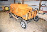 3 Seat Pony Rubber Tired Parade Wagon, All Oak