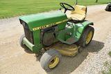 John Deere 112 Garden Tractor, Electric Deck Lift, Gear Drive, Kohler Engine, Non Running
