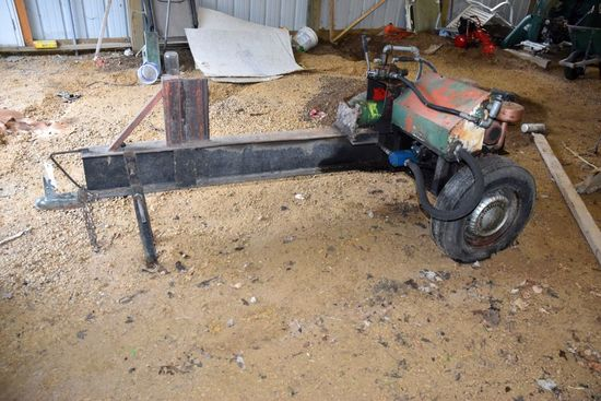Shop Built Log Splitter On Trailer, B&S 9HP Motor, Do Not Know If Motor Runs, PICK UP ONLY,SEE DATES