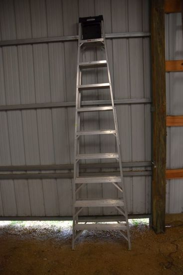 Werner 10' Aluminum Step, Max Reach Of 14', PICK UP ONLY,SEE DATES/TIMES ABOVE IN NOTES, NO SHIPPING