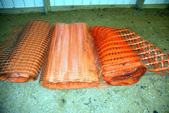 Assortment Of (3) Rolls Of Snow Fence, PICK UP ONLY,SEE DATES/TIMES ABOVE IN NOTES, NO SHIPPING AVAI