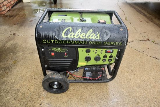 Cabelas Outdoorsman 9500 Series Generator, 7500 Watt Rated, Electric Remote Start, 120/240 Volt, Whe