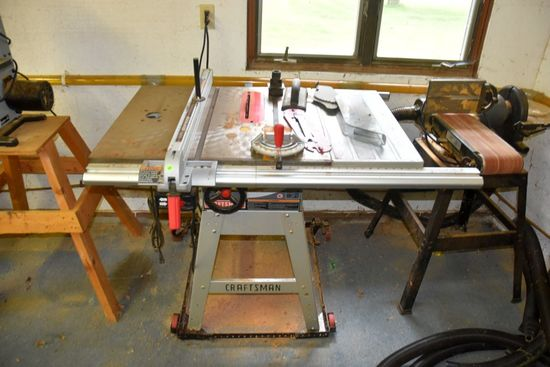 Craftsman 10' Table Saw, With Fence, 45 Degree Tilt, Works, PICK UP ONLY,SEE DATES/TIMES ABOVE IN NO