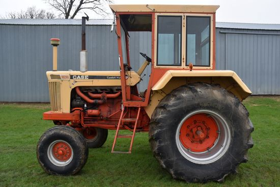Case 1030 Western, Comfort King Cab, Fenders, 3766 Hours, 23.1x30 Tires, 3pt, 540 PTO, Good Original