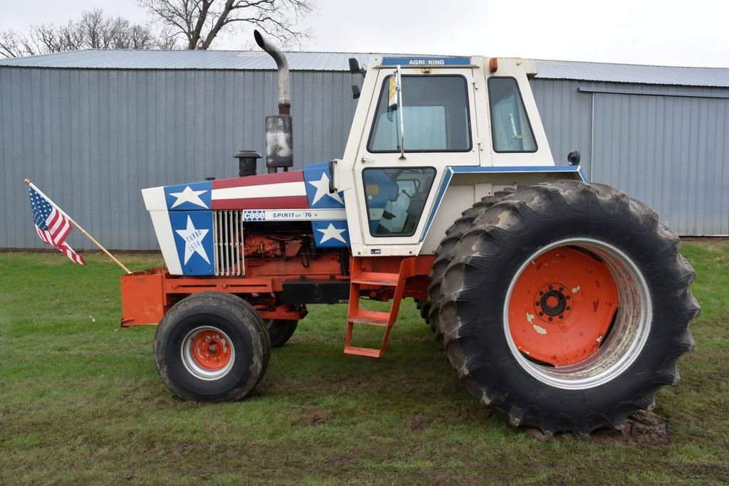 """Case 1570 """"Spirit of 76"""" 2WD Tractor, 8591 Hours, Cab, 20.8x38 Axle Duals, PTO, 3pt, QH, 2 Hyd, SN:8"""