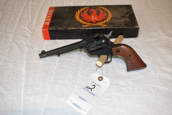 Ruger, 22 Cal., Single 6 Revolver, SN:21-02806, With Original Box And Extra Cylinder