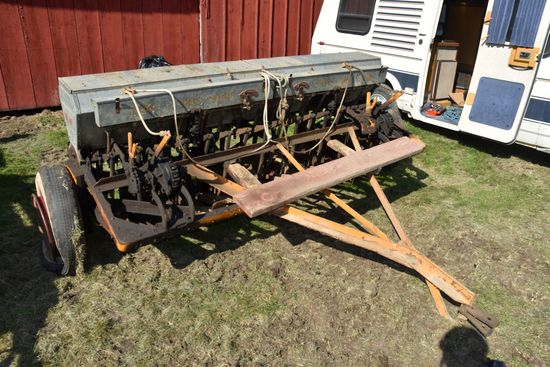 """MM 10' Grain Drill, Grass Seeder, Low Rubber , Mechanical Lift, 6"""" Spacings, Double Disc"""