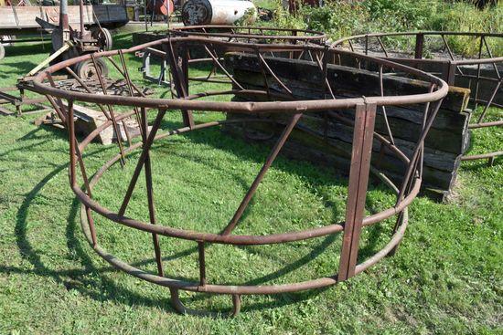 Round Bale Feeder, Bent, Bottom Has Some Rust
